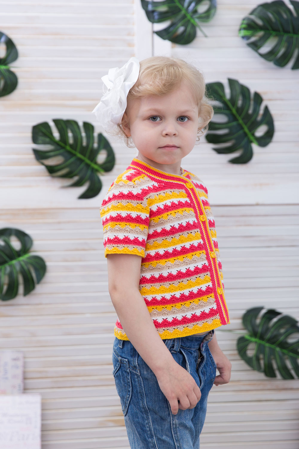 ef1beeb2056 Make a very bright and exiting summer garment for your child using this  colorful pattern. It s perfect for your little one to wear on any occasion.