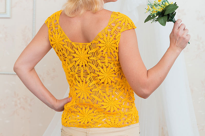 Motif top crochet pattern