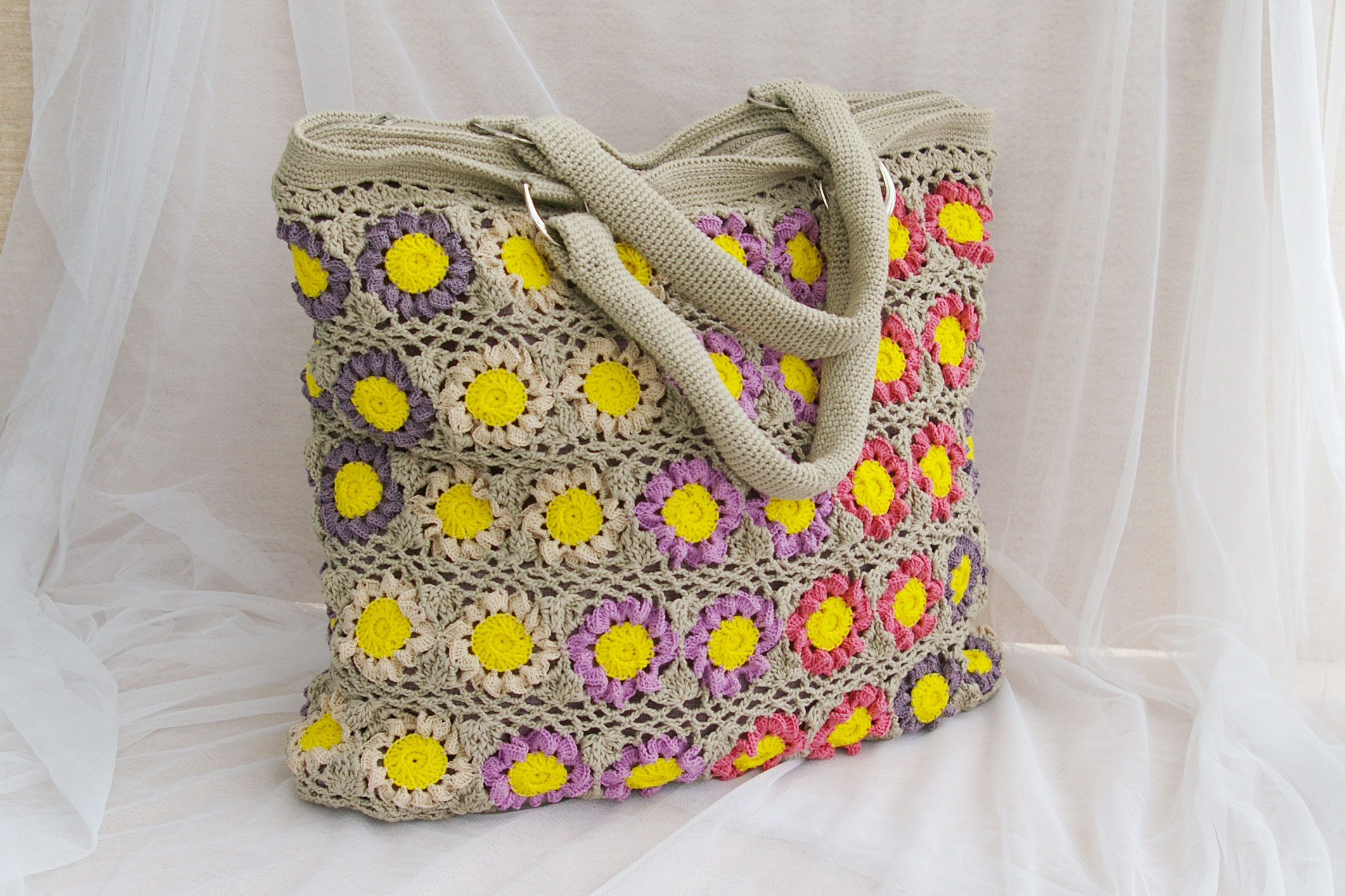 Crochet summer bag free pattern