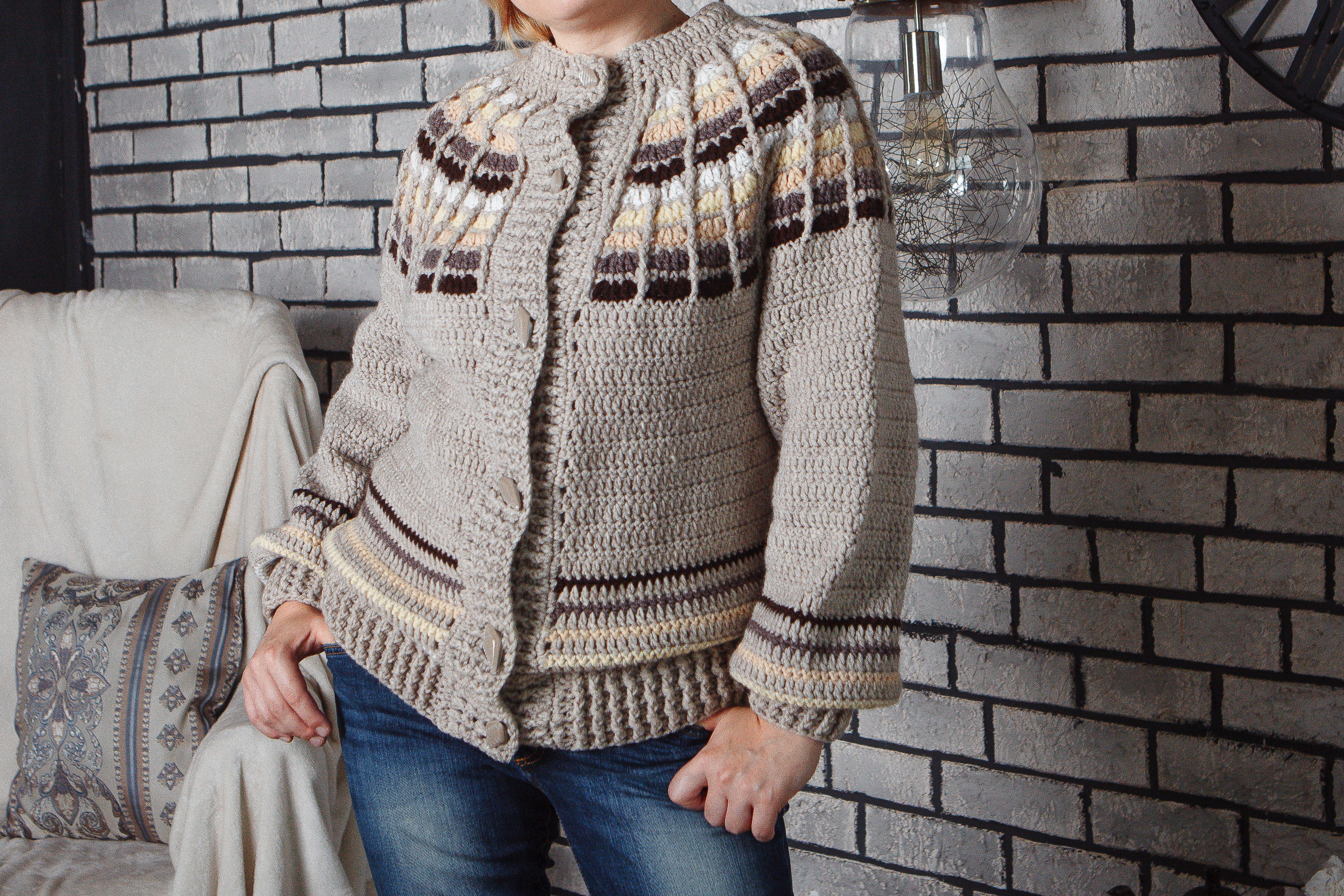 Warm bomber crochet pattern
