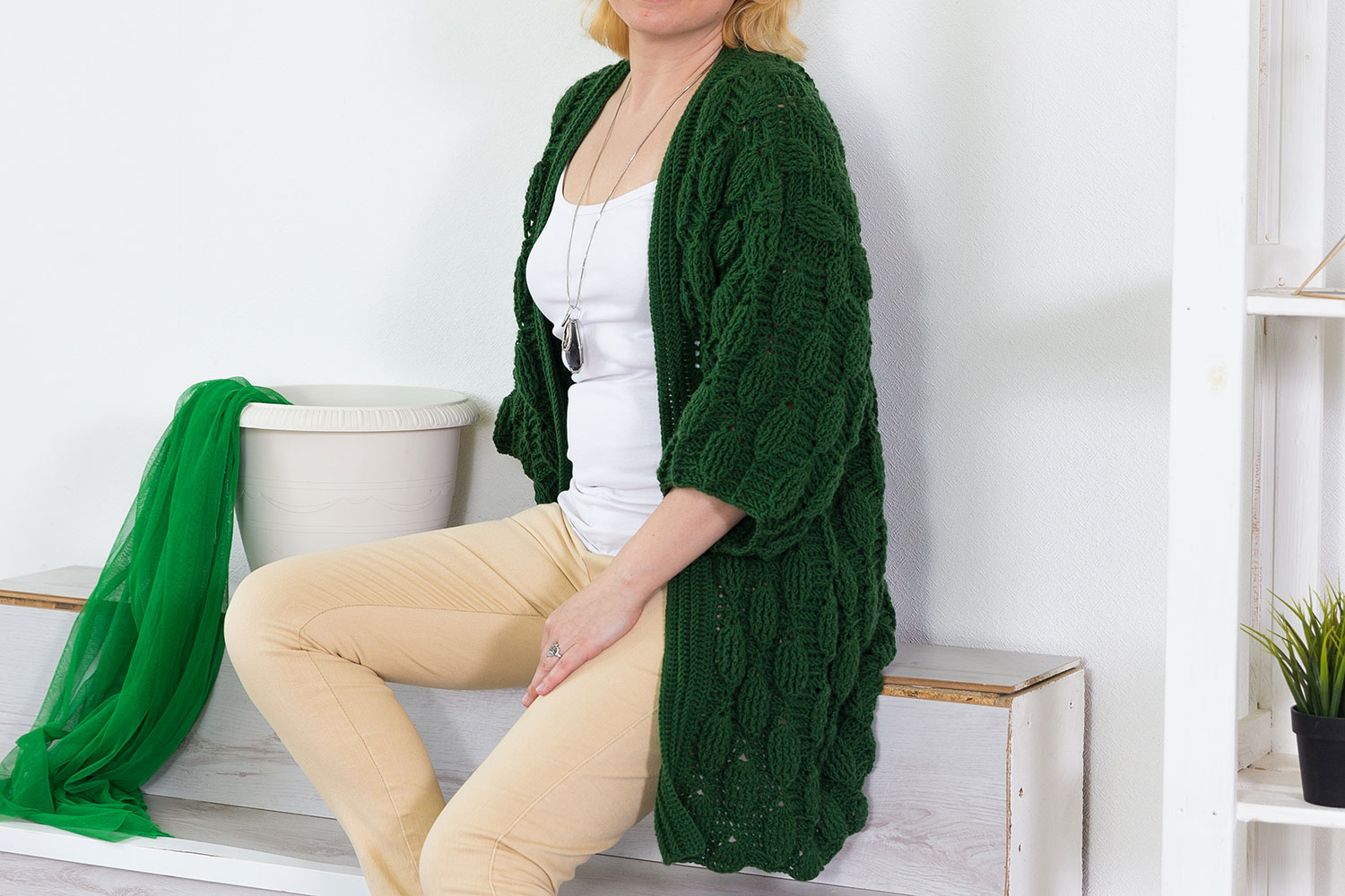 Oversized crochet cardigan pattern