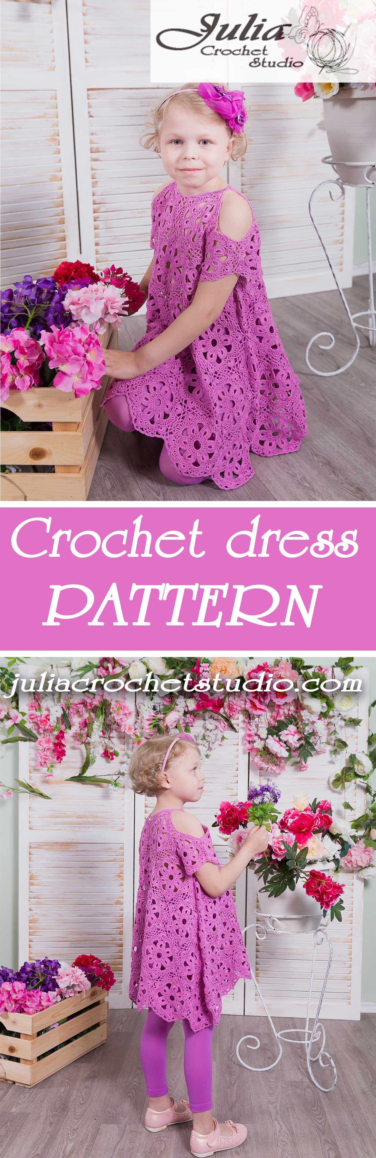 Summer dress for a little girl crochet pattern