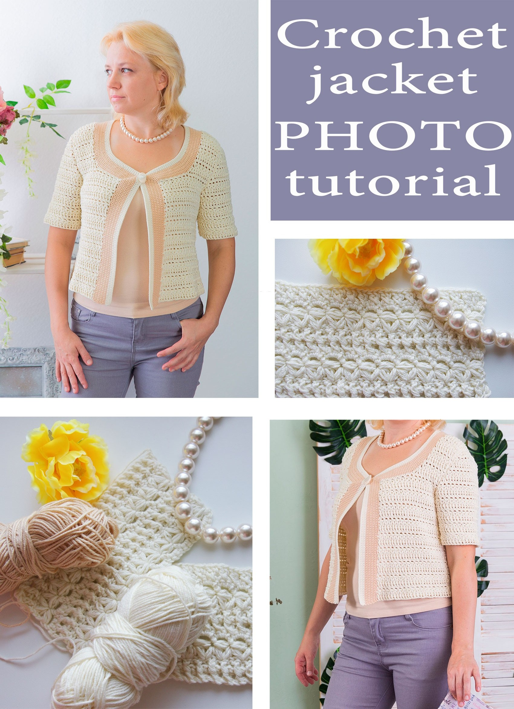 Summer crochet jacket pattern