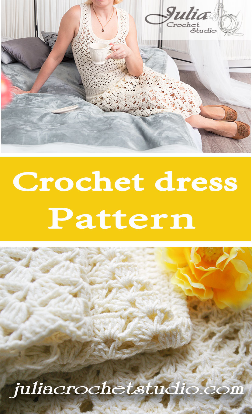 Long crochet dress pattern