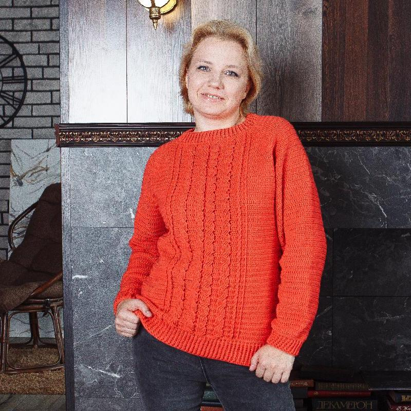 Classic cable sweater  pattern